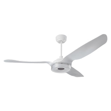 Icebreaker 56'' 3-Blade Smart Ceiling Fan with LED Light Kit & Remote - White/White (Set of 2)