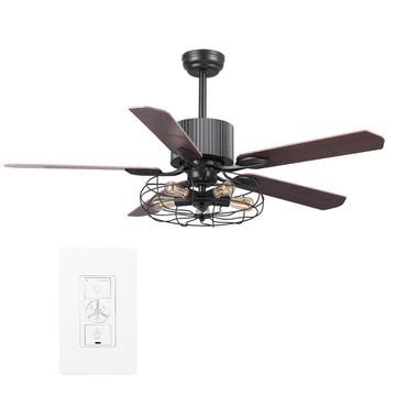 Heritage 52'' Smart Ceiling Fan With LED Light Kit
