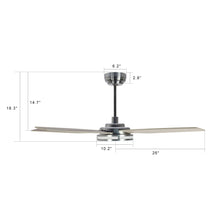 Load image into Gallery viewer, Explorer 52'' 5-Blade Smart Ceiling Fan with LED Light Kit & Remote - Silver/Light Wood