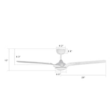 Load image into Gallery viewer, Innovator 56'' 3-Blade Smart Ceiling Fan with LED Light Kit & Remote - White/Marble Pattern