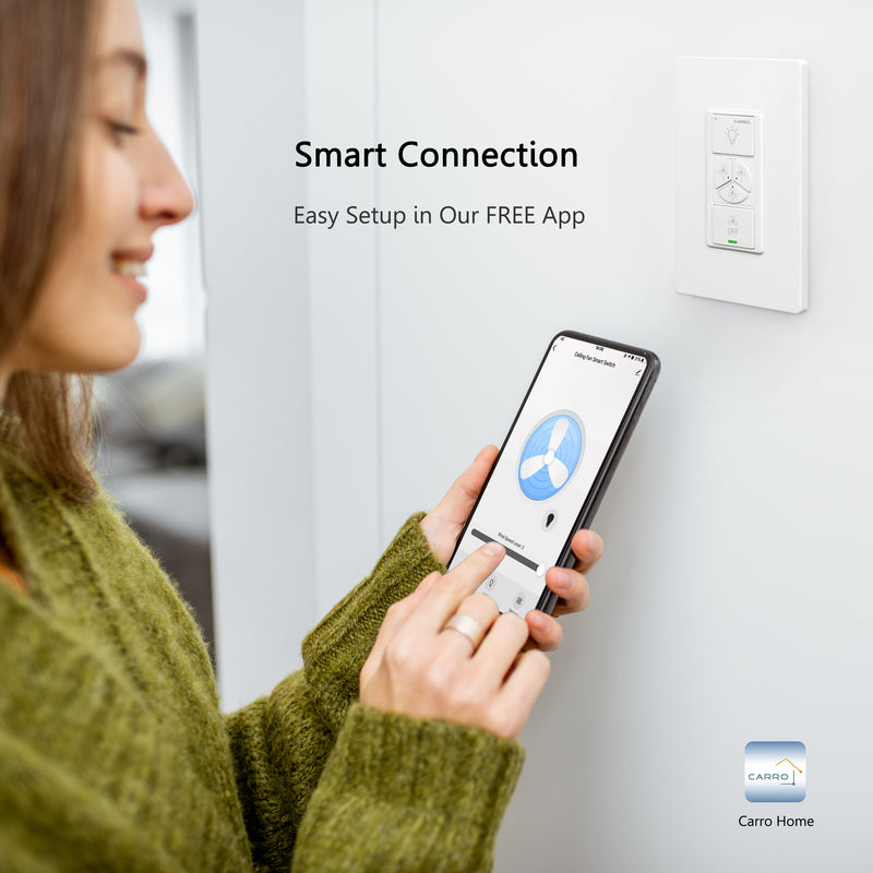 Carro Home Smart Switch for ceiling fans_1 Gang
