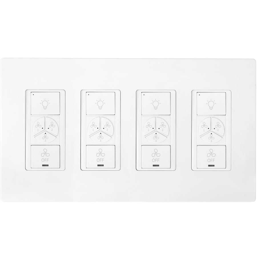 Carro Home Smart Wall Switch Controller For Ceiling Fans (4 Gang)