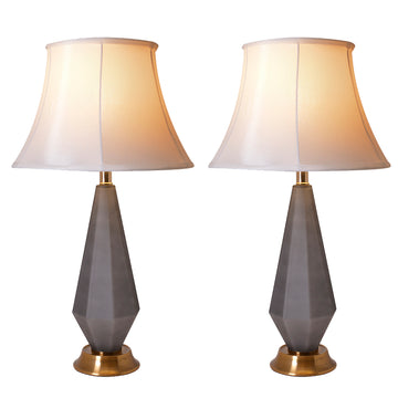 Diamond Faceted Frosted Glass Table Lamp 27