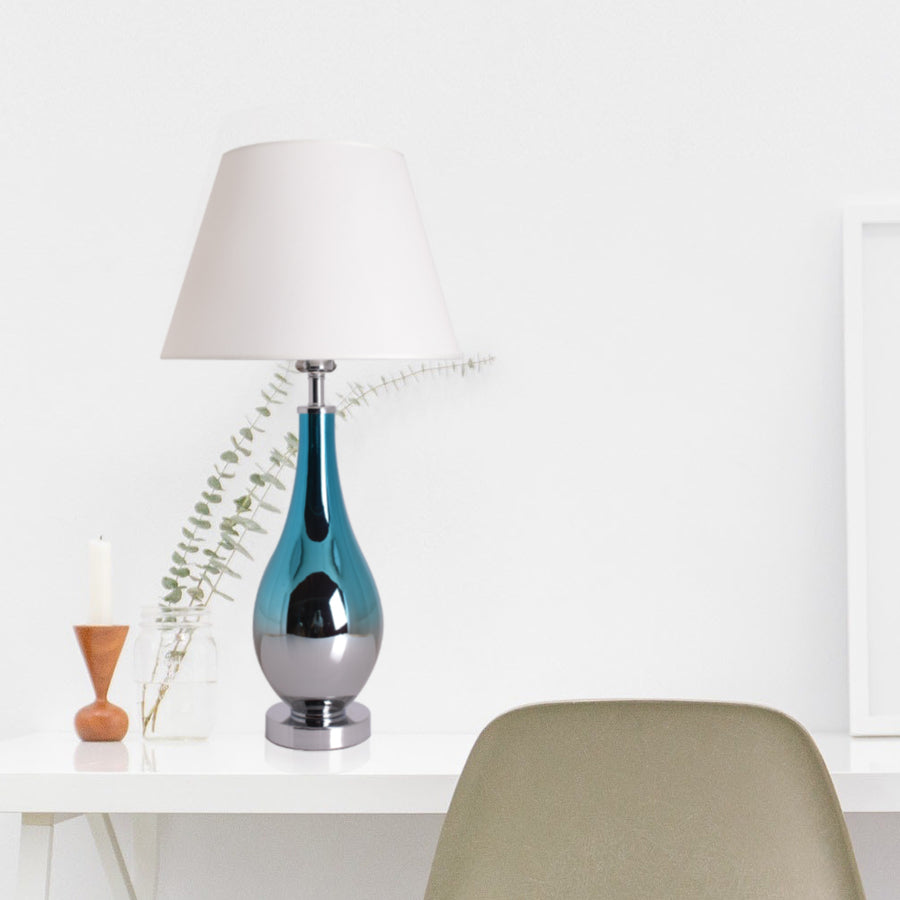 Tulip Ombre Droplet Glass Table Lamp 28