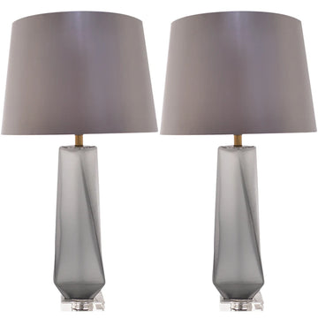 Carro Home Calla Twist Frosted Glass Table Lamp 28