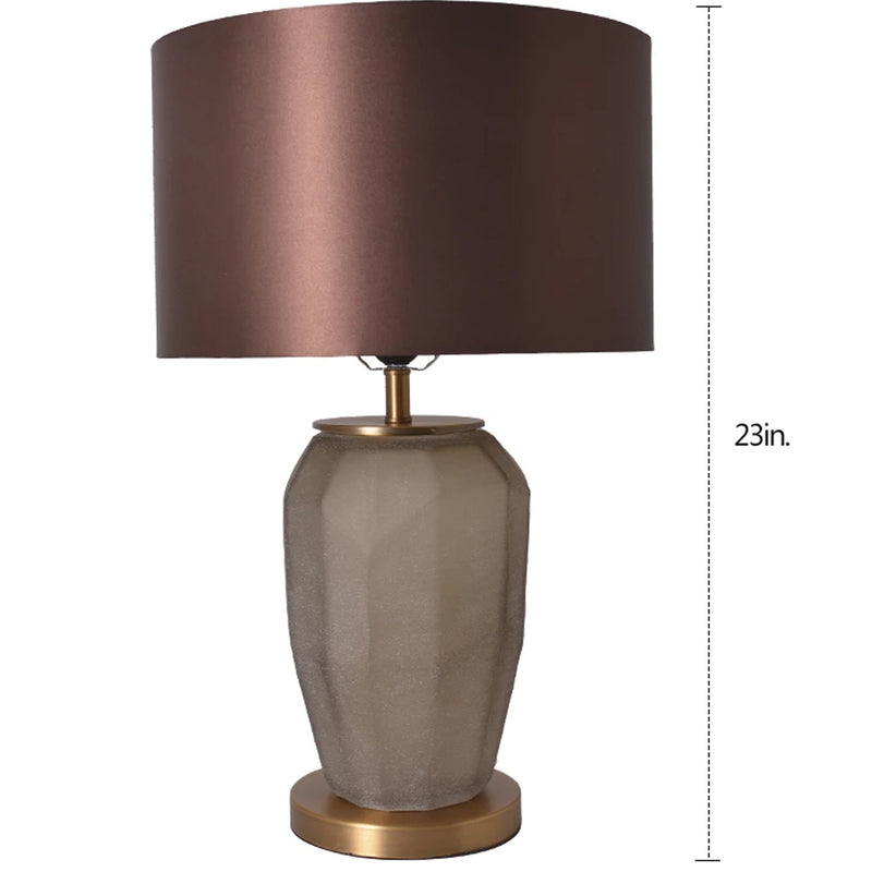 "Carro Home Iris Sculpted Glass Table Lamp 23"" - Spiced Apricot/Chocolate Brown"