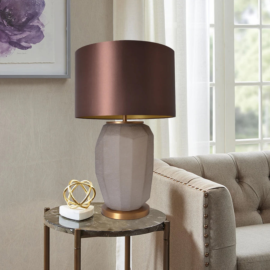 Carro Home Iris Sculpted Glass Table Lamp 30
