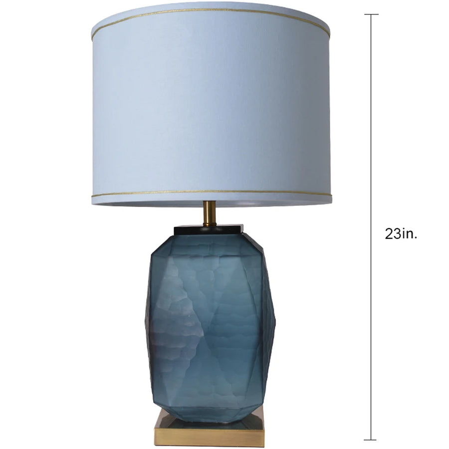 Carro Home Lisianthus Little Sculpted Glass Table Lamp 23