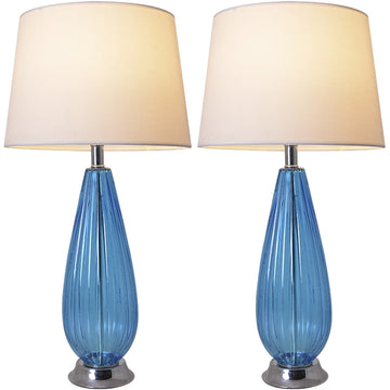 Carro Home Magnolia Translucent Glass Table Lamp 28