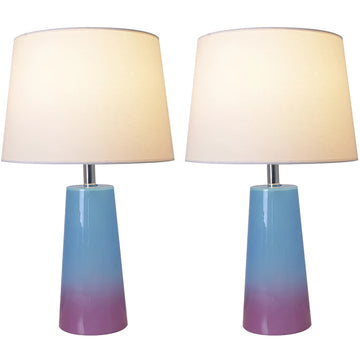 Carro Home Rosemary Ombre Glass Table Lamp 25