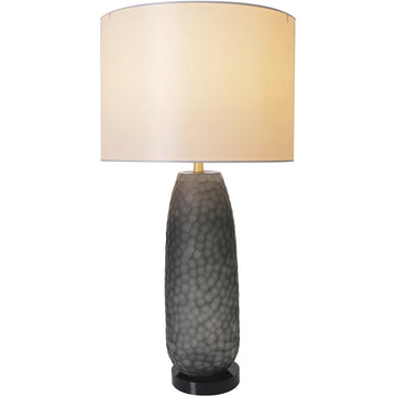 Carro Home Sakura Petals Textured Cylinder Glass Table Lamp 29