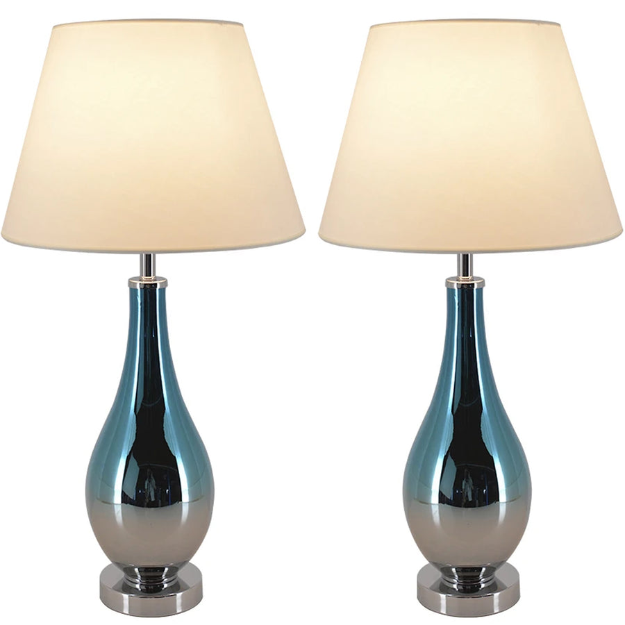 Carro Home Tulip Ombre Droplet Glass Table Lamp 28
