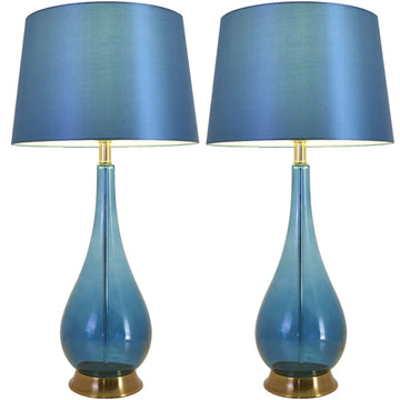 Carro Home Tulip Big Translucent Ombre Glass Table Lamp 30