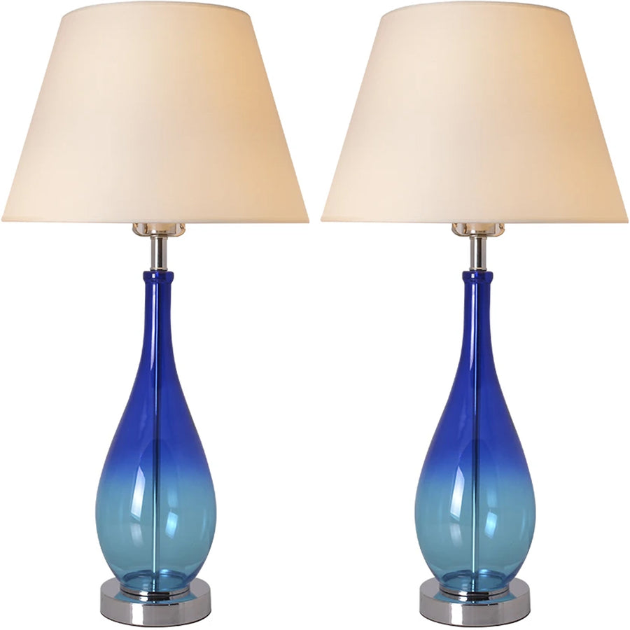Carro Home Tulip Little Ombre Droplet Glass Table Lamp 28