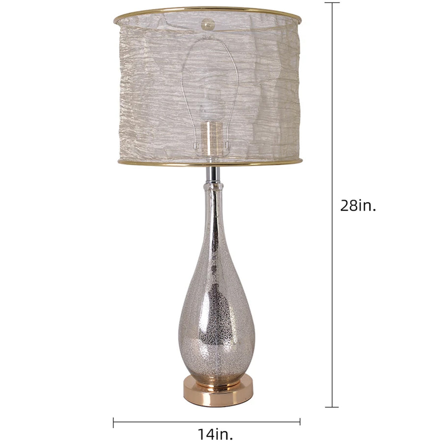 Tulip Little Mercury Droplet Glass Table Lamp 28