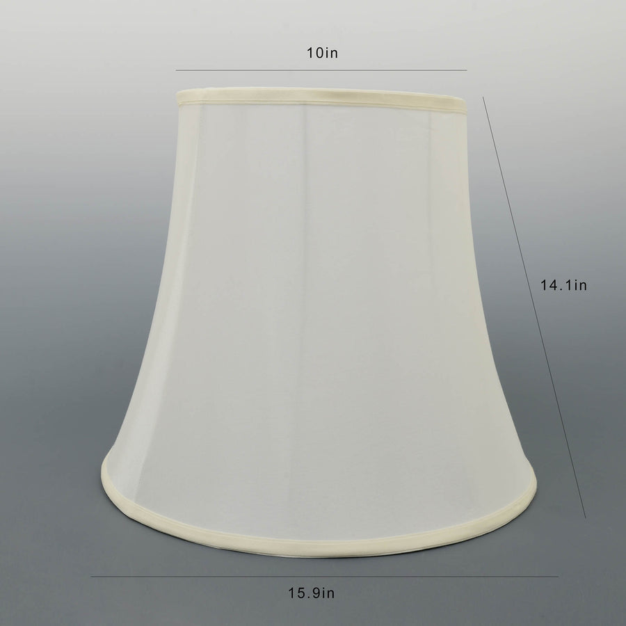 Carro Home Ivory White Bell Lamp Shade 10x16x14(Spider Fitting) - Set of 2