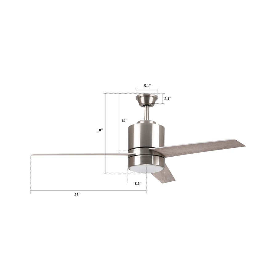 Ranger 52'' Smart Ceiling Fan with LED Light Kit