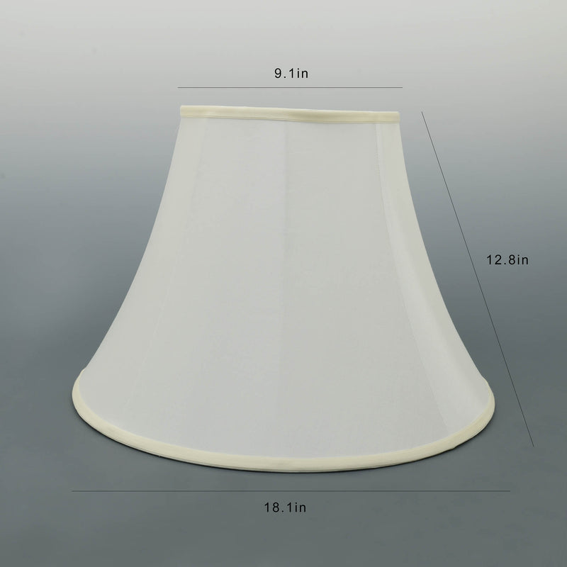 Carro Home Ivory White Bell Lamp Shade  9x18x13(Spider Fitting)-Set Of 2