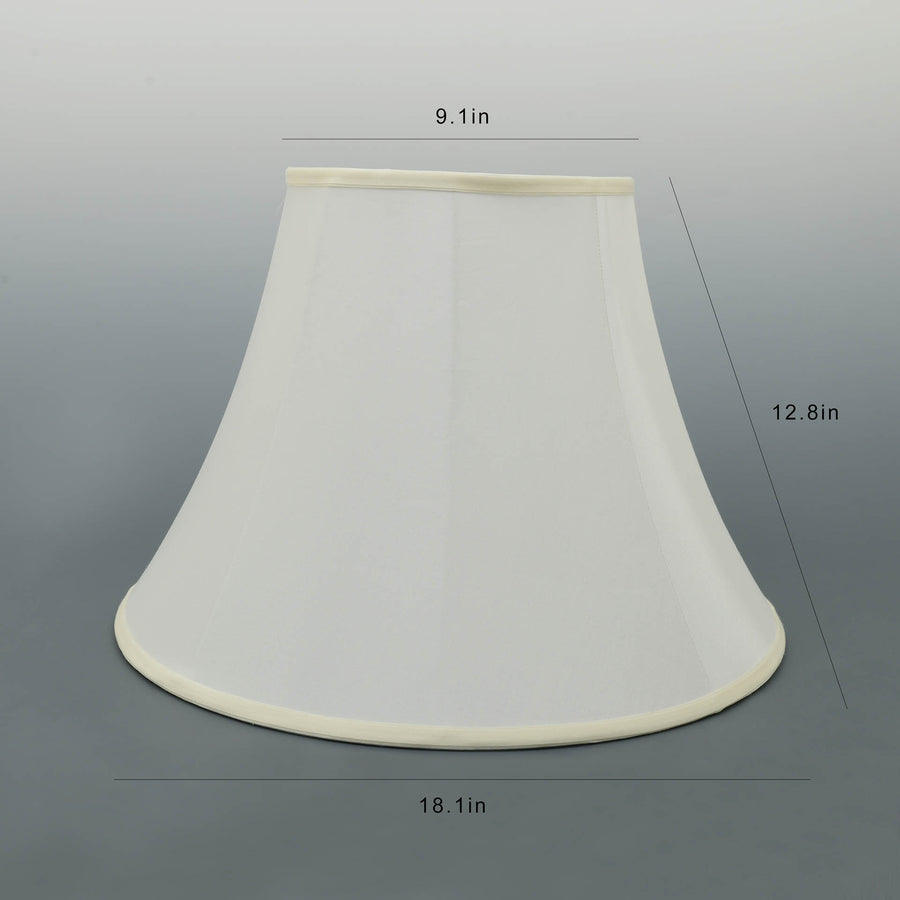 Carro Home Cream White Bell Lamp Shade 9x18x13(Spider Fitting)-Set Of 2