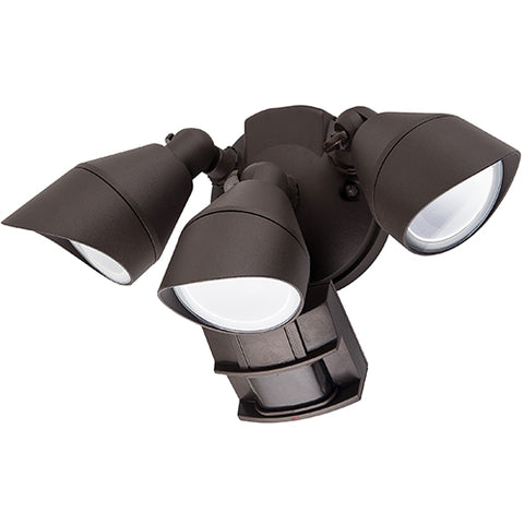Triple Head LED Outdoor Security Luminaires