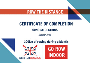 100km in a Month British Rowing Monthly Challenge