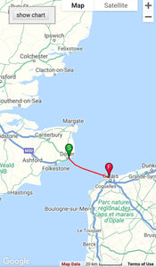 Channel crossing Challenge (39km) *LIVE TRACKING MAP*