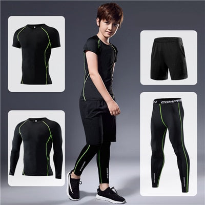 Reflective  Set Kids Running Sport Suit