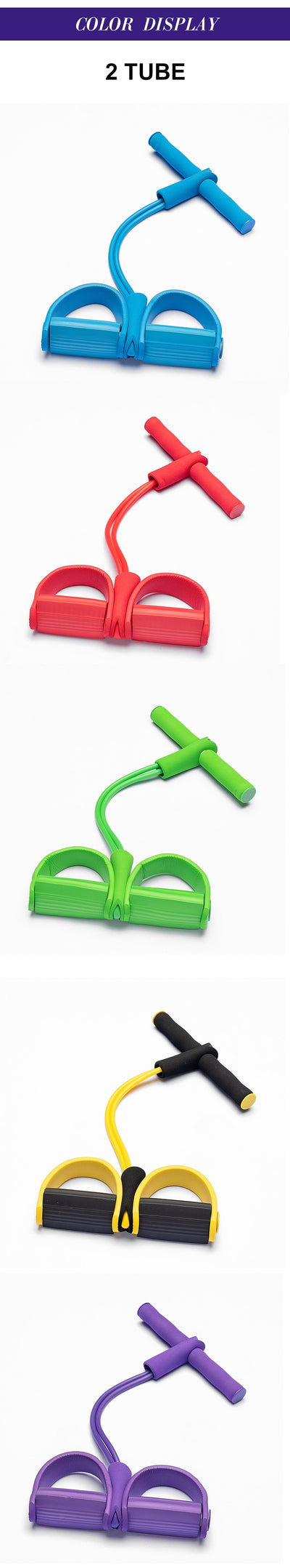 Resistance Bands 4 tube pedal fitness - Neatlyfly