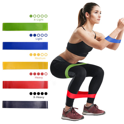 5 Colors Yoga Resistance Rubber Bands - Neatlyfly