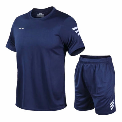 2 Pcs/Set Men's Tracksuit Gym Fitness