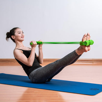 Resistance Bands 4 tube pedal fitness