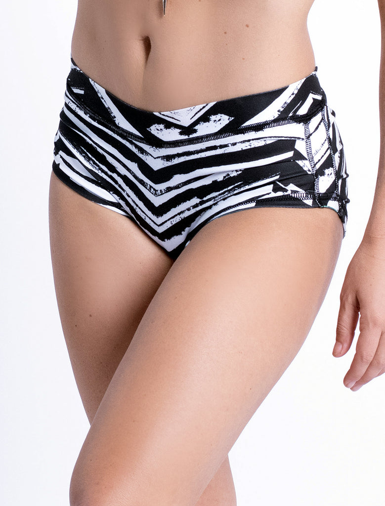 Chevron X Jungle - Reversible Ruched Short