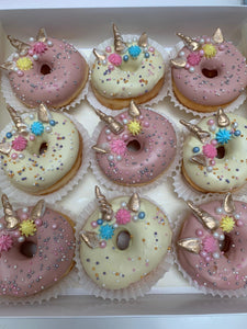 Box of 9 Unicorn Doughnuts