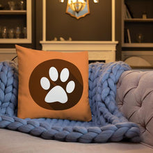 Load image into Gallery viewer, Pup and Paw Premium Throw Pillow - 4 Colors