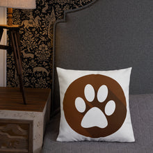 Load image into Gallery viewer, Pug and Paw Premium Throw Pillow - 4 Colors