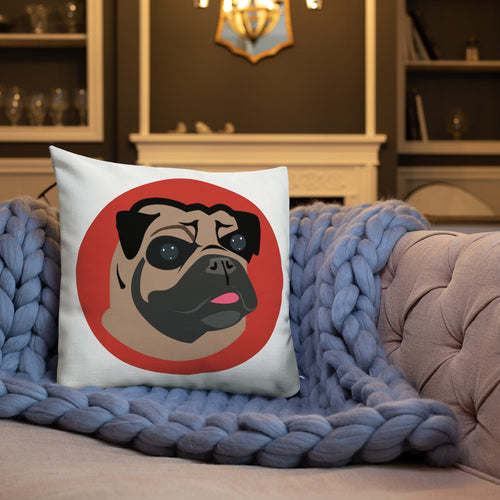 Pug and Paw Premium Throw Pillow - 4 Colors