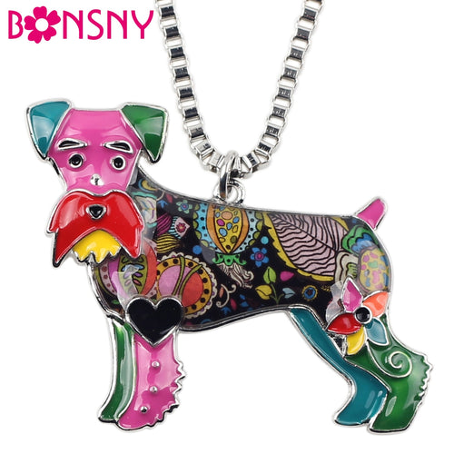 BONSNY Schnauzer Pendant Necklace-FurrysWorld