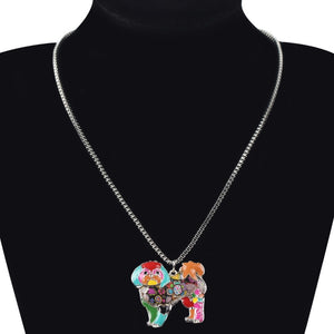 BONSNY Bichon Frise Pendant Necklace-FurrysWorld