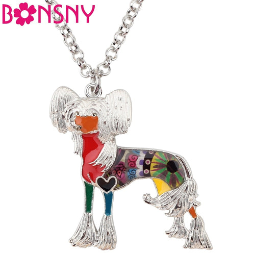 BONSNY Chinese Crested Pendant Necklace-FurrysWorld