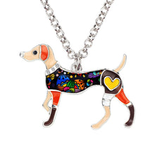 Load image into Gallery viewer, BONSNY Whippet Pendant Necklace-FurrysWorld