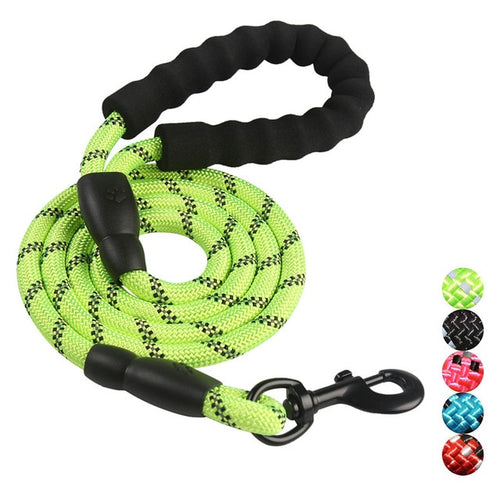 Reflective Nylon Nighttime Safety Dog Leash-FurrysWorld
