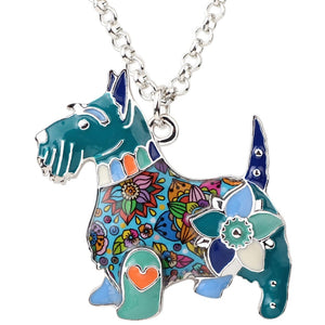 BONSNY Scottish Terrier Pendant Necklace-FurrysWorld