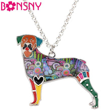 Load image into Gallery viewer, BONSNY Rottweiler Pendant Necklace-FurrysWorld