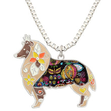 Load image into Gallery viewer, BONSNY Sheltie Pendant Necklace