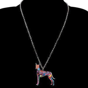 BONSNY Great Dane Pendant Necklace-FurrysWorld