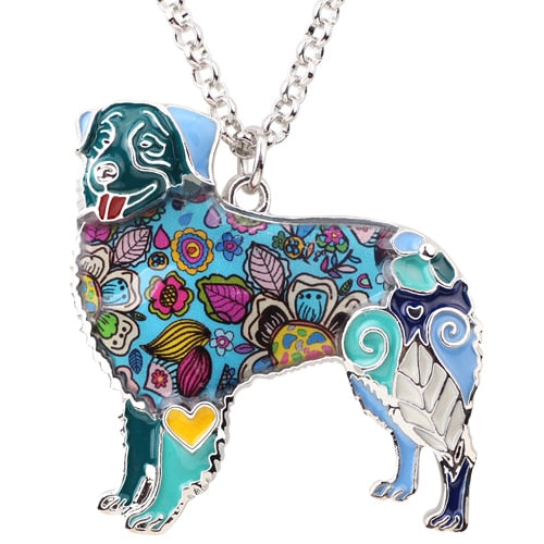 BONSNY Australian Shepherd Pendant Necklace-FurrysWorld