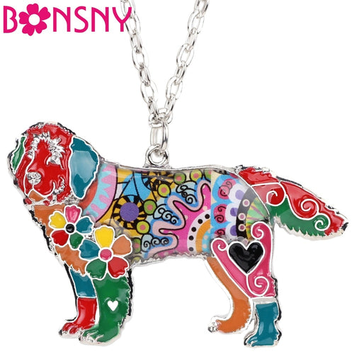BONSNY Newfoundland Pendant Necklace-FurrysWorld