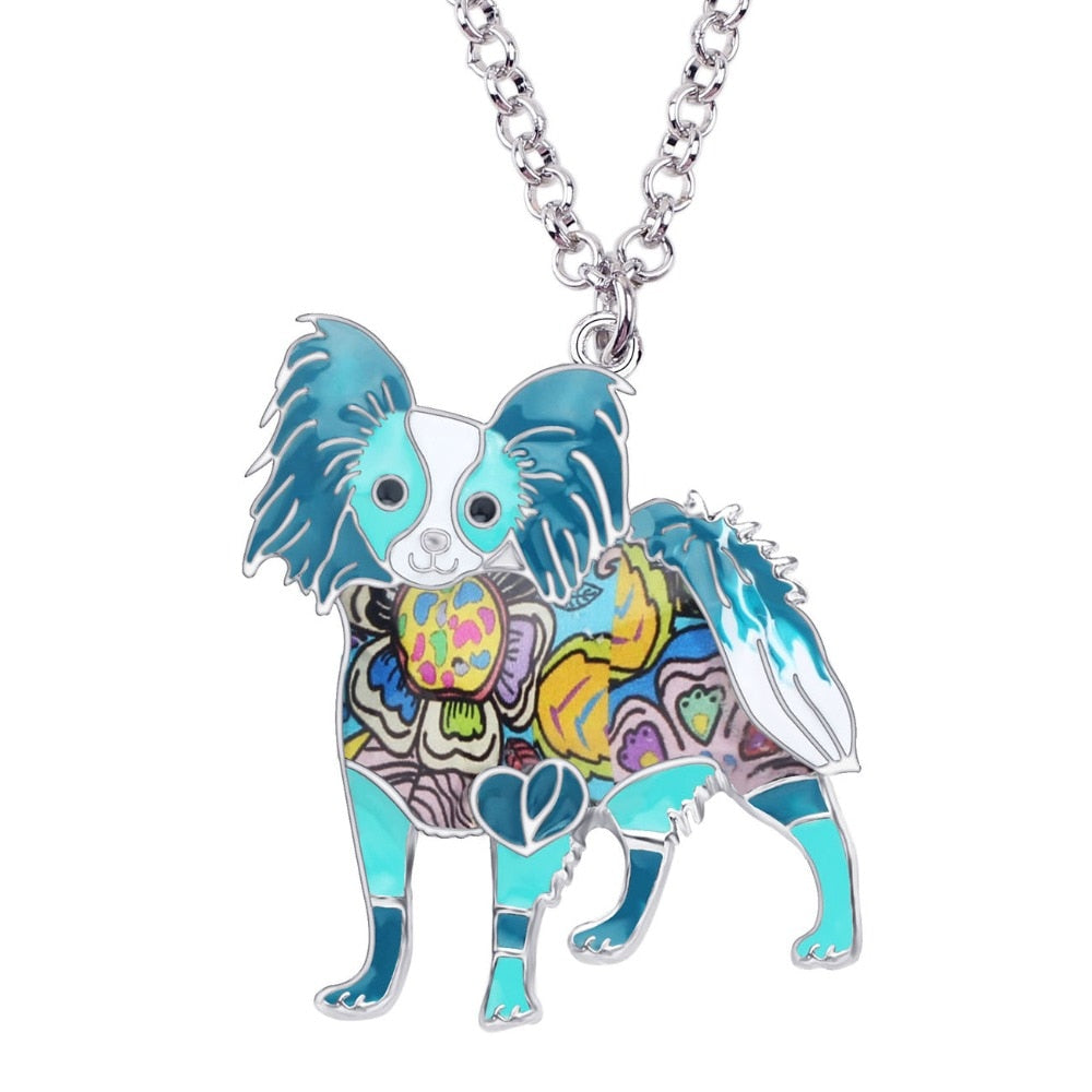 BONSNY Papillon Pendant Necklace-FurrysWorld