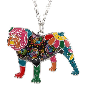 BONSNY Bulldog Pendant Necklace-FurrysWorld