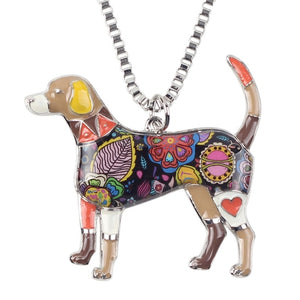 BONSNY Beagle Pendant Necklace-FurrysWorld